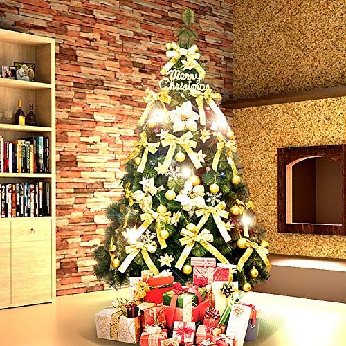 KELE Luxus Gold-Set Künstlicher Weihnachtsbaum, Fichte Baum Umweltschutz Faltbare ständer Dekoration Encryption Tree Einfache Montage-B 210cm(7ft) (7ft Weihnachtsbaum)