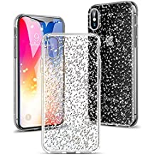 coque transparente paillette iphone x