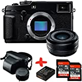 Bundle Fuji XPro2 Compact System Camera +XF18 18mm F2.0 Pancake Lens +Leather Case + 2xSandisk 32GB Ultra + Spare Battery