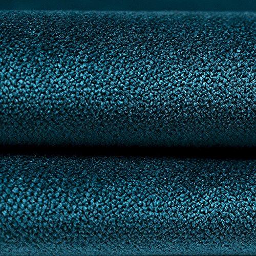 McAlister Textiles - Luxury Kollektion | Matter Samt Stoffprobe | Blaugrün | luxuriöser Designer Plüsch, weicher Samt (Vereinigtes Königreich-ente)