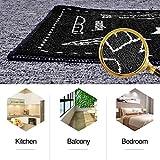 TankerStreet 2 Stück Küchenteppiche Küchenläufer Waschbar Teppich Küchenmatte Schön Pattern Teppichläufer Rutschfeste Ölbeweismatte Matte für Toilette Esszimmer Schlafzimmer 40×60 + 40x120CM Schwarz - 3
