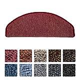 Beautissu® Set da 15 tappetini gradini scale ProStair - 56x20cm - pratico retro adesivo ottimale angolatura - bordeaux