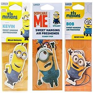 Despicable Me Minion Car Air Freshners Stuart, Kevin & Bob (3 Pack)