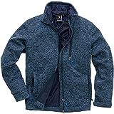 First B Unisex Fleecejacke Gefütterte Warme Damen Herren Jacke für Herbst Frühling Winter – Windjacke als Übergangsjacke aus Fleece Winddicht Blau M