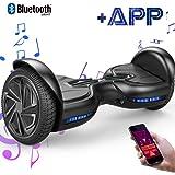 "EVERCROSS Balance Board Diablo 6,5"" Smart Skateboard Électrique Bluetooth Scooter Certifié CE de Boutique GyroGeek (Black)"