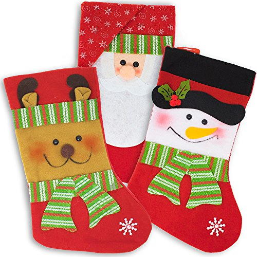 The Twiddlers 3 Calcetines Navideños de Terciopelo - Christmas Stockings - Medias...