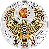 Halcón de Tutankamón $2 2oz Moneda Plata y Ámbar - Niue 2017
