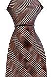 Notch Krawatte aus Seide für Herren - Glencheck Muster in Orange, Blau und Weiß