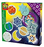SES-06105 - Bügelperlenset Sterne im Dunkeln leuchtend -