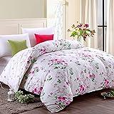 Puro algodón solo duvet cover/Otoño e invierno algodón edredón individual/ cómodo y respirable edredón-A 220*240cm(87x94inch)