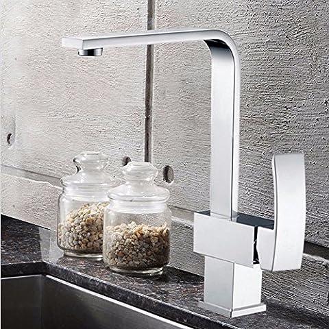 SDKIR-Robinet de cuisine robinet évier de cuivre de l'eau chaude et froide pour laver la vaisselle, lavabo