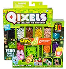 Qixels are the pixel cubes that join with water. Create a world of adventure one Qixel at a time! simply make, spray and display. Build your characters up, blast them with water and they're ready for action! the Mega refill pack includes a massive 15...