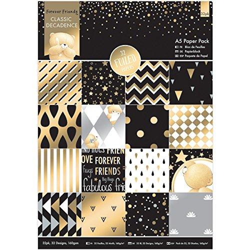 Designer Classics-kollektion (Papermania Geschenkpapier, A5-Bögen,Motiv: Forever Friends Classic Decadence, 32Stück)
