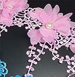 Yalulu 2 Yards 3D Blume Spitze Spitzenband Geschenkband