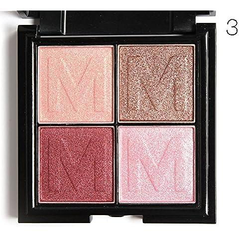 pyrty (TM) myboon 4colori ombretto trucco Shimmer opaco ombretto tavolozza
