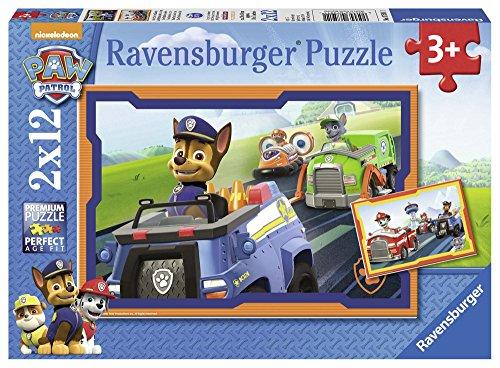 PAW PATROL - Puzzle, 2 x 12 Piezas (Ravensburger 07591 1)