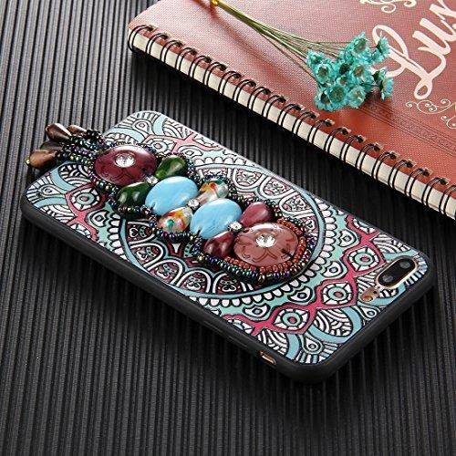 Für iPhone 7 Plus Retro Ethnische Stil Decals Schutzmaßnahmen zurück Fall Fall DEXING ( SKU : Ip7p0600f ) Ip7p0600h