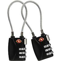 [2 Stück] TSA Gepäckschlösser, 3-stelliges Sicherheitsschloss, Zahlenschloss Kabelschloss Reiseschloss Kofferschloss…