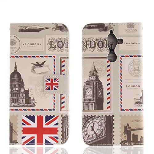 Ooboom® Nokia 7 Plus Hülle Flip PU Leder Schutzhülle Handy Tasche Case Cover Wallet Standfunktion mit Kartenfächer Magnetverschluss für Nokia 7 Plus - Union Jack