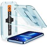Spigen Glas.tR EZ Fit Screenprotector compatibel met iPhone 13 Pro Max, 2 Stuks, met Sjabloon voor Installatie, Kristalhelder