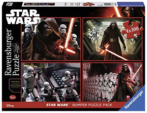 Star Wars - Episode VII Bumper, cuatro rompecabezas de 100 piezas, 36...