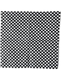 Bandana damier noir et blanc 54x54 cm coton course rallye ska punk