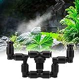 Aspersor de niebla Fogger de reptiles, sistema de nebulización de reptiles de cabeza doble 360 ° ajustable para tanque de sel