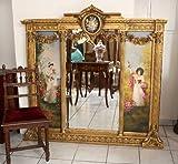 XXL Spiegel mit Gemälde Louis XVI Antik-Stil Prunkspiegel 153x148cm - 3