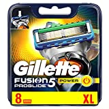 Gillette Fusion ProGlide Power Men's Razor Blades, 8 Blades