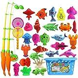MagiDeal Mini Magnetischen Angeln Spielzeug Badespielzeug Set für Kinder Baby Badespaß