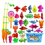 MagiDeal Mini Magnetischen Angeln Spielzeug Badespielzeug Set für Kinder Baby Badespaß - 32 Stück