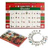 Adventskalender kinder DIY Armband Halskette-Set mit 22 Charms Fashion Jewelry Countdown Advent Kalender für Kinder Wei
