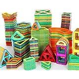 Wisdom Piezas magnéticas de bloques de construcción, juguetes para niños, Imán de los bloques huecos de 3-6 años de la muchacha Puzzle Boy ( Color : 48 Sets )