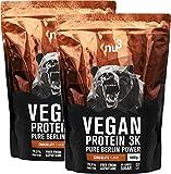 nu3 Vegan Protein 3K Shake | 2 Kg Chocolate Blend | veganes Proteinpulver aus 3-Komponenten-Protein mit 70% Eiweiß | Pulver mit leckererm Schokoladen-Geschmack | Laktosefrei