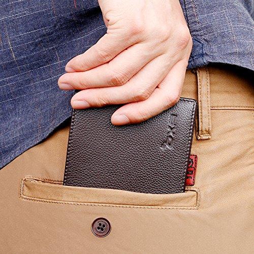 OXA RFID Herren Geldbörse, Geldbeutel Portemonnaie Brieftasche aus Echtleder für Mehrere Karten samt Geschenkbox (Braun) Braun