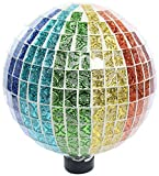 Alpine Corporation Rainbow Mosaik Gazing Globe geprägt Fliesen Muster