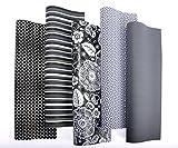 10er Rollen Set Black and White Schwarz und Weiß Geschenkpapier 200 x 70 cm verschiedene Designs