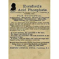 Vintage pharmazeutische horsfords Säure Phosphat für Verdauungsstörung C1800's 250gsm, Hochglanz, A3, vervielfältigtes Poster