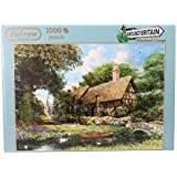Jumbo 11017 - Falcon - Around Britain - Riverbank Cottage, Derbyshire, 1000 Teile Puzzle