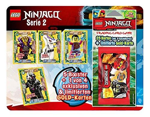Preisvergleich Produktbild Sammelkarten Lego Ninjago Serie II, 5er Blister