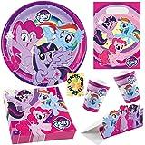 HHO My Little Pony Partyset 52tlg. für 8 Kinder Teller Becher Servietten Tüten Einladung