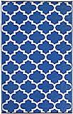 Fab Hab - Tangier - Regattablau & Weiß - Teppich/ Matte für den Innen- und Außenbereich (90 cm x 150 cm)