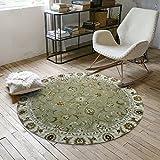 CKH Vintage-Muster Runde Teppich europäischen Stil Schlafzimmer Korb Runde Teppich Home Computer Stuhl Mat (Size : Diameter 80cm)