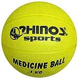 RHINOS sports Medizinball, Gymnastikball 1 kg   gelb