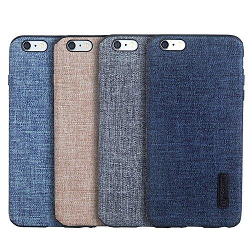 MOONCASE iPhone 6 Plus/iPhone 6s Plus Cover, Custodie Morbide TPU Antigraffio Antiurto Protettive [Fabric Pattern] Resiliente Armor Case Cover per iPhone 6 Plus/iPhone 6s Plus 5.5 Orange Grey-2