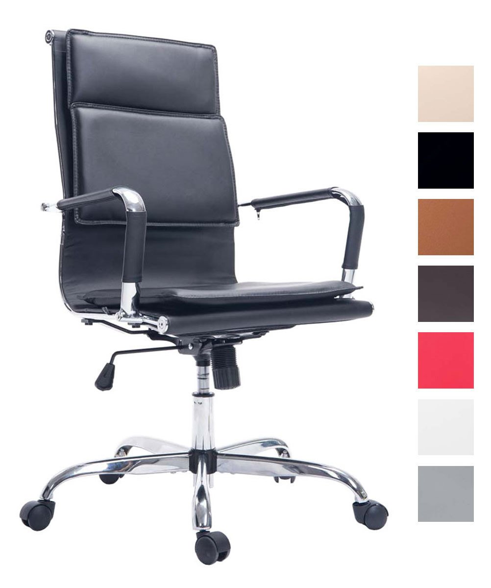 CLP Silla de Oficina Joris con tapizado de Cuero sintético. La Altura del Asiento es Regulable: 47-57 cm. Soporta un Peso Máximo de 150 kg