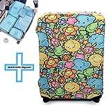 TakeCover elastische Kofferschutzhülle in Premium Qualität, Dicker Kofferschutzbezug, Größe. S - M - L - XL (Aland, L)