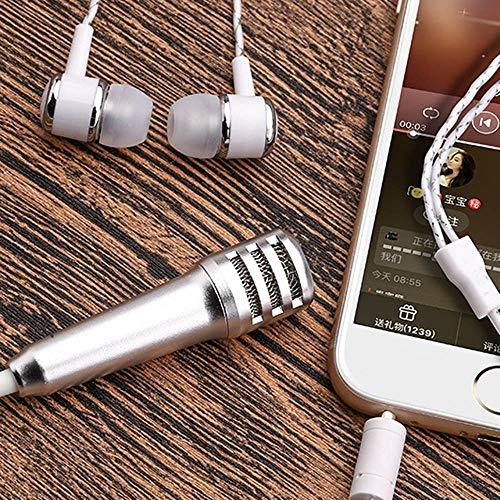 OSYARD Kopfhörer/Ohrhörer/Headphones/Earphones/Earbuds,Mini Karaoke Kopfhörer mit Kondensatormikrofon,Universal 3,5 mm Klinkefür Headset für iPhone, Android Smartphones und MP3 Players usw