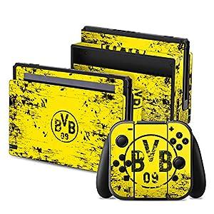 DeinDesign Skin Aufkleber Sticker Folie für Nintendo Switch Borussia Dortmund BVB Fanartikel