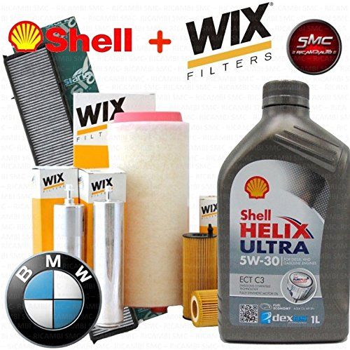Inspektionskit Öl Shell Helix 5 W30 6lt 4 Filter Wix (WL7474, WF8365, WA9601, V3701)
